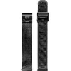 Bentime Kovový mesh s easy clickem - černý (Šířka 18 mm)
