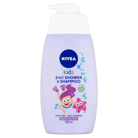 Nivea Detský sprchový gél a šampón 2 v 1 s vôňou lesného ovocia (2 in 1 Shower Shampoo) 500 ml
