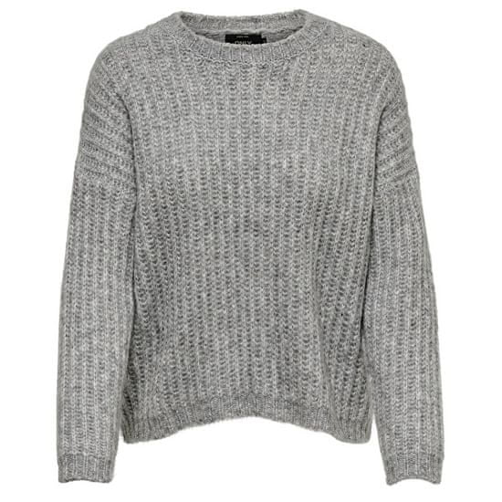 ONLY Ženski pulover ONLCHUNKY L / S PULLOVER KNT Light Grey Melange