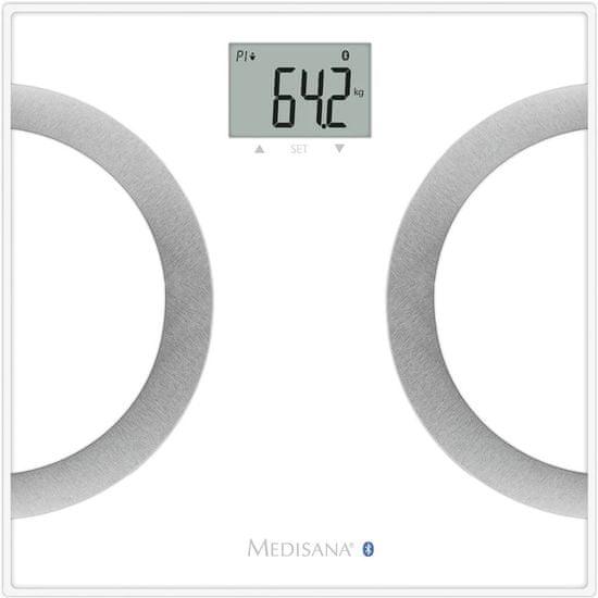shumee Medisana tehtnica z analizo sestave telesa BS 445, bela, 180 kg, 40441
