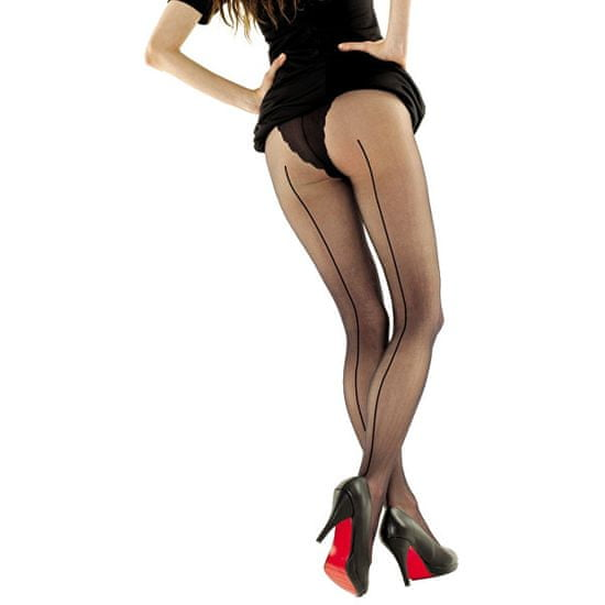 Evona Čierne pančuchové nohavice EVA 999 158-100