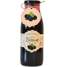 Slaskoukjidlu.cz Borůvkový sirup - tekuté ovoce v lahvi, 500 ml