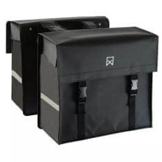 shumee Willex Kolesarska torba tarpaulin 40 L mat črna