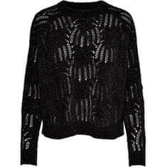 ONLY Damski sweter ONLELVA L / S PULLOVER KNT Black (Rozmiar L)
