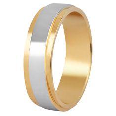 Beneto Férfi bicolor esküvői gyűrű acélból SPP05 (Kerület 63 mm)