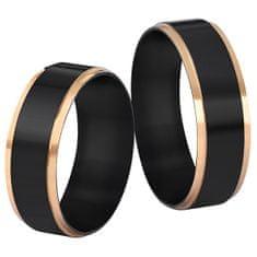 Troli Acél karikagyűrű fekete / arany (Kerület 49 mm)