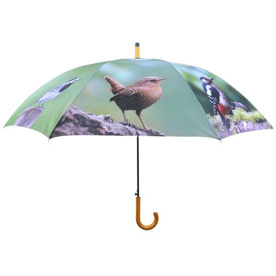 shumee Dežnik Esschert Design s pticami, 120 cm, TP178