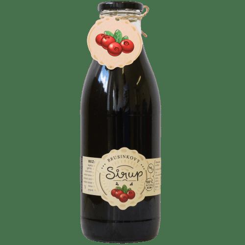Slaskoukjidlu.cz Brusinkový sirup - tekuté ovoce v lahvi