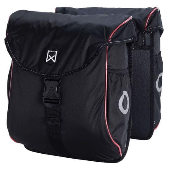 shumee Willex Sakwy rowerowe 300 Flexi, 24 L, czarno-czerwone