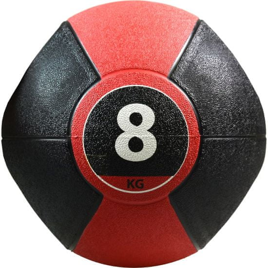 shumee Pure2Improve Piłka lekarska z uchwytami, 8 kg, czerwona