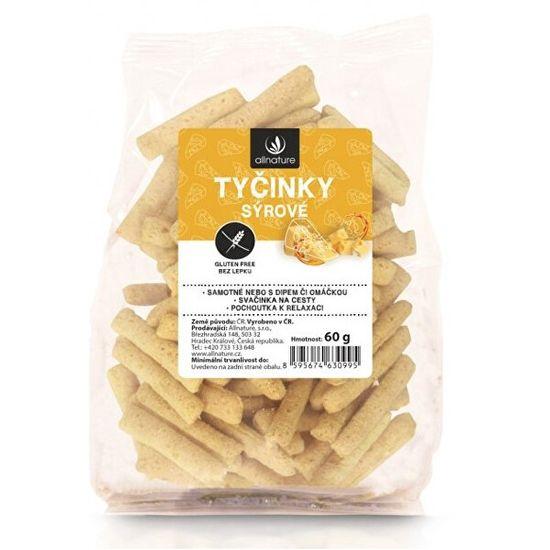 Allnature Tyčinky sýrové bezlepkové 60 g