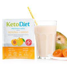 KetoDiet Proteinový nápoj příchuť meruňka a mango 7 porcí