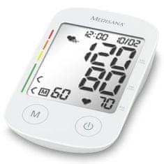 shumee Medisana Merilnik krvnega tlaka za nadlaket BU 535 Voice, bel