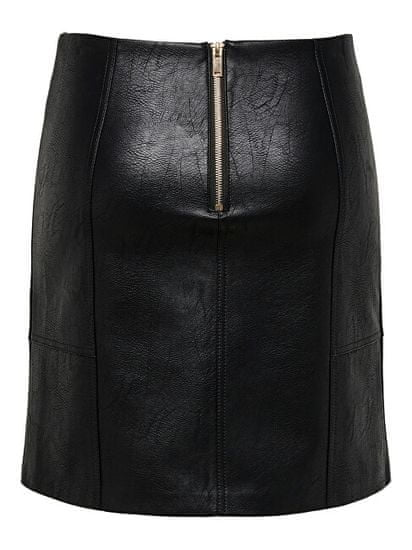 ONLY Ženski krilo ONLSKY FAUX LEATHER KRILO CC OTW Black