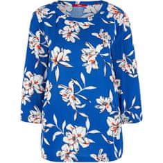 s.Oliver Ženska bluza 14.002.19.2869 .56A2 Blue cvetlični potisk (Velikost 36)