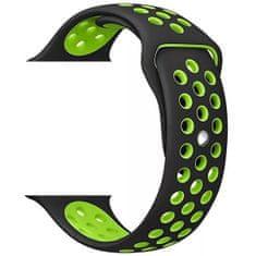 4wrist Silikonový řemínek pro Apple Watch - Černá/Zelená 42/44 mm
