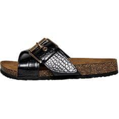 ONLY Dámské pantofle ONLMATHILDA PU CROC SLIP ON Black W. CROCK (Velikost 36)