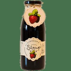 Slaskoukjidlu.cz Jahodový sirup - tekuté ovoce v lahvi, 500 ml, jahoda