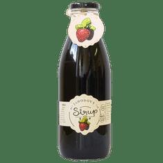 Slaskoukjidlu.cz Jahodový sirup - tekuté ovoce v lahvi, 1000 ml, jahoda