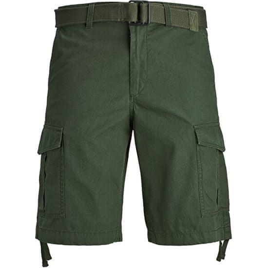 Jack&Jones Moške kratke hlače JJICHARLIE JJCARGO SHORTS AKM 803 Forest Night