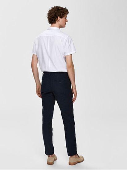 Selected Homme Férfi nadrág SLHSTRAIGHT-PARIS LINEN PANTS W Dark Sapphire