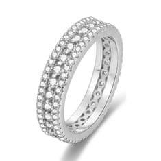 Beneto Stříbrný prsten se zirkony AGG325 (Obvod 52 mm) stříbro 925/1000