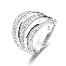 Beneto Stříbrný prsten se zirkony AGG329 (Obvod 50 mm) stříbro 925/1000
