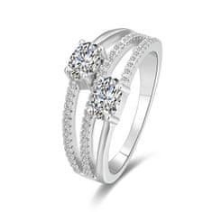 Beneto Stříbrný prsten se zirkony AGG332 (Obvod 50 mm) stříbro 925/1000