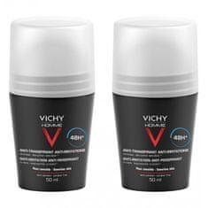 Vichy Homme 48H Deo roll-on dezodorant za občutljivo kožo (Anti-Transpirant Extra Sensitiv e ) 2 x 50 ml