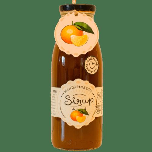 Slaskoukjidlu.cz Mandarinkový sirup - tekuté ovoce v lahvi