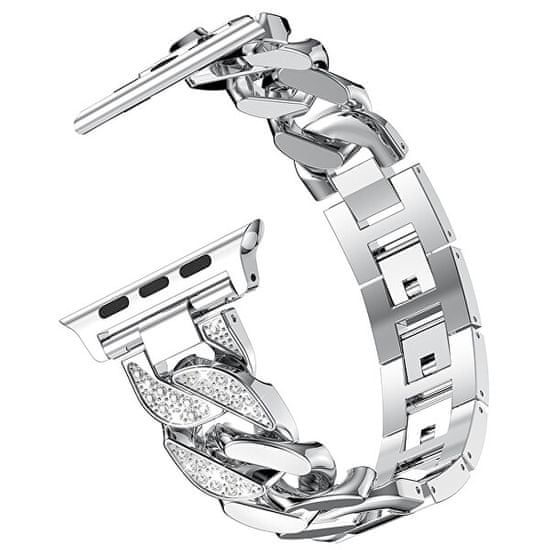 4wrist Kovový tah pro Apple Watch - Stříbrný - 38/40 mm