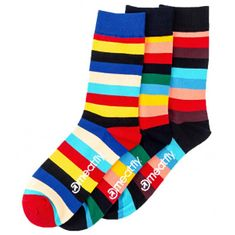 MEATFLY 3 PACK - zokni Stripe socks S19 Multipack (méret 43-46)