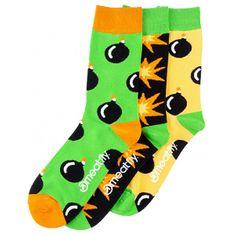 MEATFLY Férfi zokni szett Bomb socks S19 Multipack (méret 39-42)