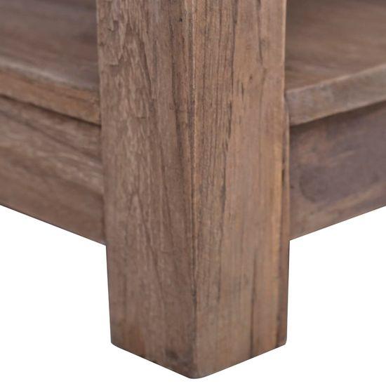 shumee Konferenčný stolík 68x68x35 cm masívne teakové drevo