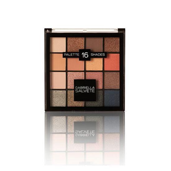 Gabriella Salvete Paletka 16 očních stínů Palette 16 Shades 20,8 g