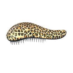 Dtangler Kartáč na vlasy s rukojetí Leopard Yellow
