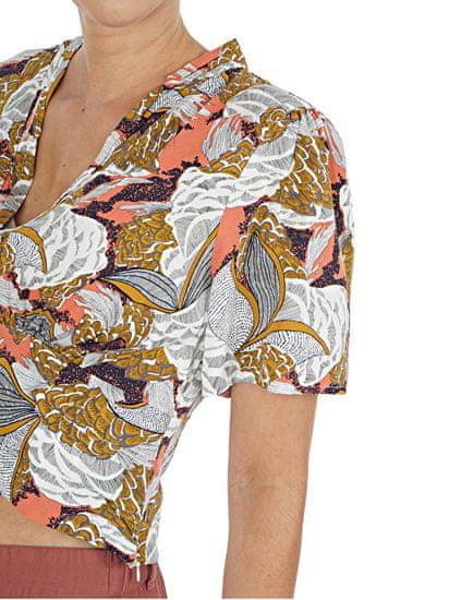 ONLY Ženska majica ONLGUSTA LIFE 15205068 Terra Cotta SURFER FLORAL