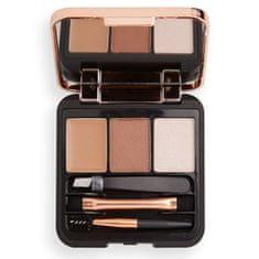 Makeup Revolution Sada na úpravu obočí Brow Sculpt Kit 2,2 g (Odstín Brown)