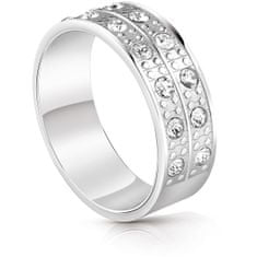 Guess Modni prstan s kristali UBR29030 (Obseg 54 mm)