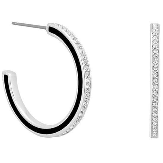 Karl Lagerfeld Kruhové náušnice s krystaly 5545297