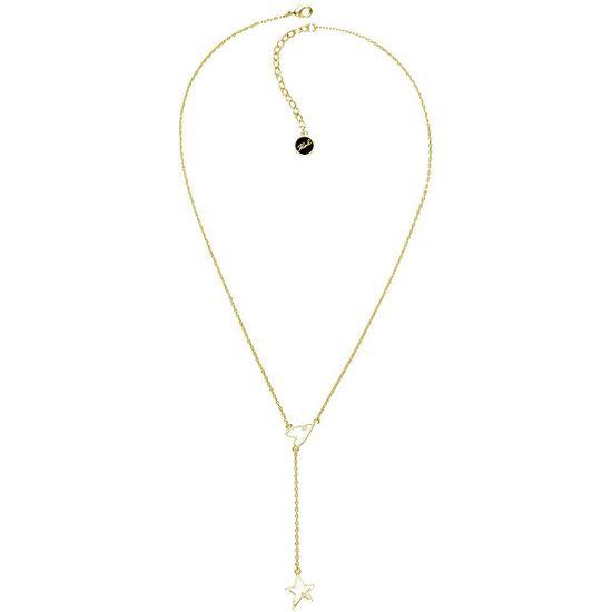 Karl Lagerfeld Pozlacený náhrdelník se srdcem a hvězdou 5545053