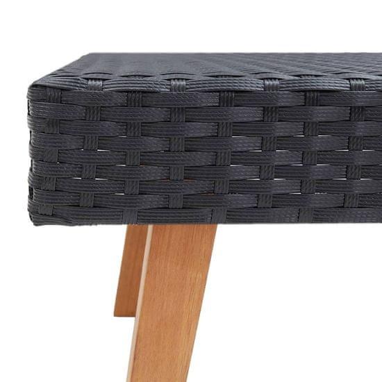 shumee Vrtna sedežna garnitura z blazinami 2-delna poli ratan črna