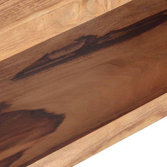 shumee Klubska mizica 110x45x30 cm iz trdnega palisandra