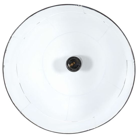 shumee kerek éjfekete ipari vintage függőlámpa 25 W 31 cm E27