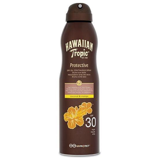 Hawaiian Tropic (Dry Oil Continuous Spray) SPF 30 Protective (Dry Oil Continuous Spray) 180 ml