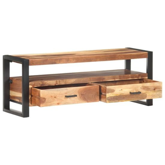 shumee Szafka pod TV, 120x35x45 cm, drewno stylizowane na sheesham