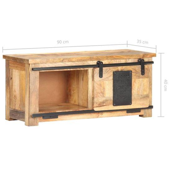 shumee Szafka pod TV, 90x35x40 cm, lite drewno mango