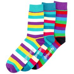 MEATFLY 3 PACK - Dark Small Stripe socks S19 Multipack - férfi zokni (méret 43-46)