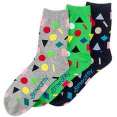 MEATFLY 3 PACK - zokni Multi Shape socks S19 Multipack (méret 36-39)
