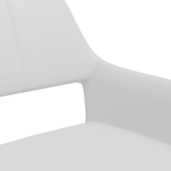 Petromila Jedálenské stoličky 4 ks, biele, umelá koža